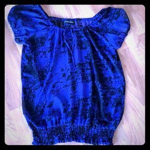 ❄️ sheer cobalt blue/black shirt